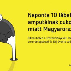 diabéteszes láb és lábamputáció - Az Egy csepp figyelem plakátja