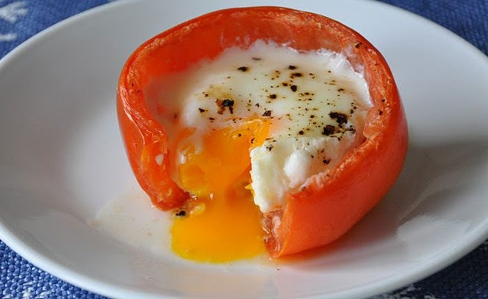 Paradicsomban sült tojás